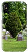 White Tree In Cemetery IPhone Case