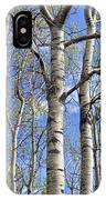White Trees Against A Blue Sky IPhone Case
