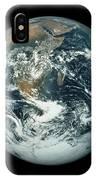 Whole Earth, Showing Antartica, Africa And Arabia IPhone Case