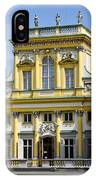 Wilanow Palace And Museum - Poland IPhone Case
