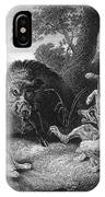 Wild Boar Hunt IPhone Case