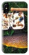 Wild Brown Trout And Fishing Rod IPhone Case