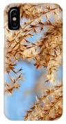 Wild Grasses Against A Blue Sky IPhone Case