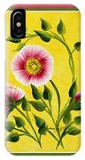 Wild Roses On Yellow With Borders IPhone Case