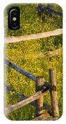 Wildflowers And A Wooden Fence At IPhone Case