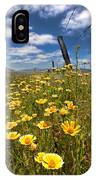 Wildflowers And Barbed Wire IPhone Case