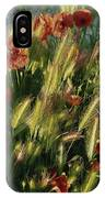 Wildflowers And Grass Tufts In Provence IPhone Case