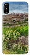Wildflowers In Badlands IPhone Case