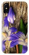 Wildflowers On Wood IPhone Case