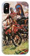 William The Conqueror At The Battle Of Hastings IPhone Case