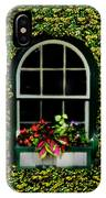 Window On An Ivy Covered Wall IPhone Case