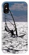 windsurfer rides the water at West Dennis Beach on Cape Cod IPhone Case