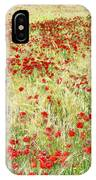 Windy Poppies IPhone Case