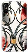 Wine Bottles In Curved Wine Rack IPhone Case