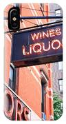 Wines And Spirits Sign IPhone Case