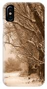 Winter Country Road IPhone Case