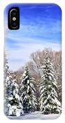 Winter Forest With Snow IPhone Case