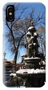 Winter In Cathedral Park Santa Fe IPhone Case