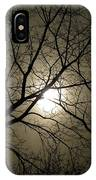 Winter Moon On A Cold Foggy Winter Night IPhone Case