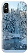 Winter On The Truckee River IPhone Case