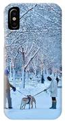Winter Twilight Walk IPhone Case