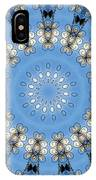 Wire Flowers And Butterflies IPhone Case