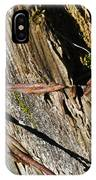 Wired Fence Post IPhone Case