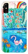 Woman And Blue Elephant Beside The Lake IPhone Case