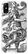 Woman Playing The Harp IPhone Case