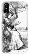 Woman Reading, 1876 IPhone Case