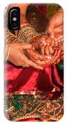 Women With Decorated Hands Holding Hands In A Hindu Religious Ceremony IPhone Case