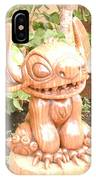 Wood Carving Of Stitch IPhone Case