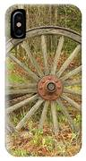 Wood Spoked Wheel IPhone Case