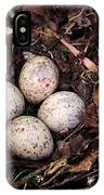 Woodcock Nest And Eggs IPhone Case