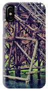 Wooded #rollercoaster At #cedarpoint In IPhone Case