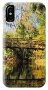 Wooden Bridge Over The Hillsborough River IPhone Case