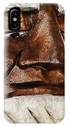 Wooden Head With Cigarette IPhone Case