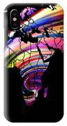 World Map Abstract Painting 2 IPhone Case