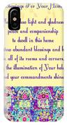 x Judaica House Blessing Prayer IPhone Case