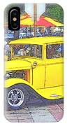 Yellow 1930's Ford Roadster IPhone Case