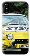 Yellow Alpine Renault IPhone Case