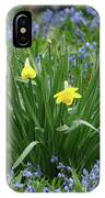 Yellow And Blue Flowers IPhone Case