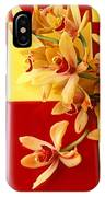 Yellow And Red Orchids  IPhone Case