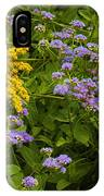 Yellow And Violet Flowers IPhone Case