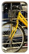 Yellow Bicycle IPhone Case