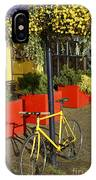Yellow Bicycle Vancouver Canada IPhone Case