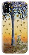 Yellow-blossomed Wishing Tree IPhone Case