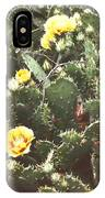 Yellow Cactus IPhone Case