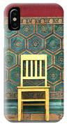 Yellow Chair At The Imperial Palace IPhone Case