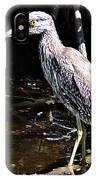 Yellow Crowned Night Heron II IPhone Case